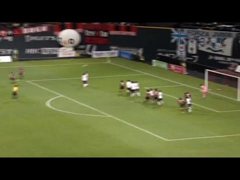 Fabulous free-kick from Kazumasa Uesato