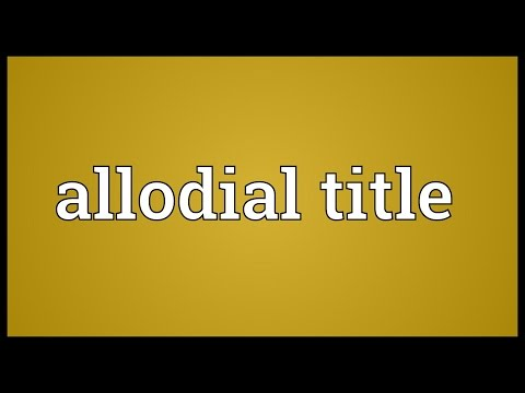 Header of Allodial Title