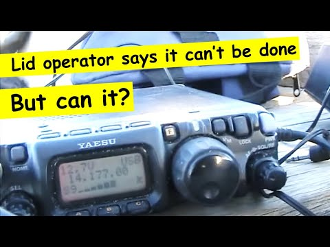 Amongst the kilowatts: 14 MHz SSB QRP DX with a delta loop