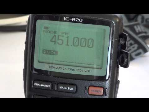 Icom IC R20 - Backlight display functions