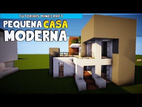Tutoriais Minecraft: Como Construir uma Pequena Casa Moderna