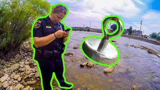 Magnet Fishing GONE WRONG *Police Involved*