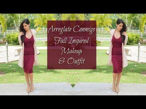 Arreglate Conmigo | Fall Inspired Makeup Tutorial & Outfit | Yanira Giselle