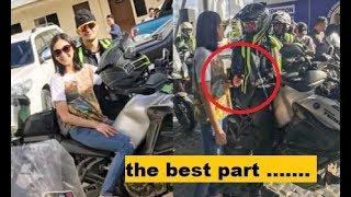 SARAH SUMAKAY sa MOTOR ni Matteo, HOLDING HANDS muna bago ang race !