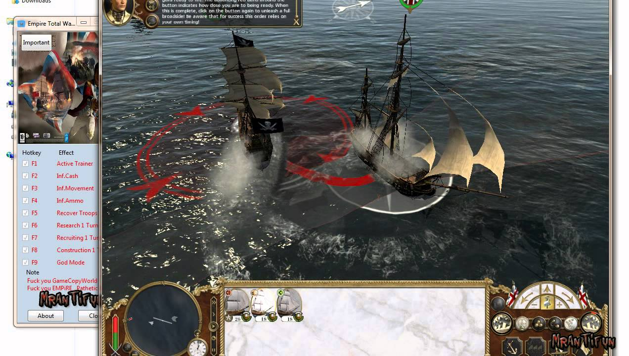 Empire total war trainer 1.6 steam