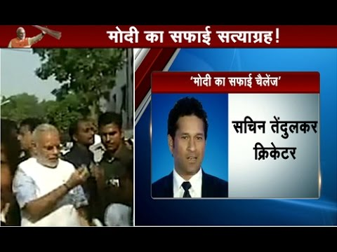 PM Narendra Modi Tags Sachin Tendulkar, Salman khan,Priyanka Chopra in Cleanliness Challenge