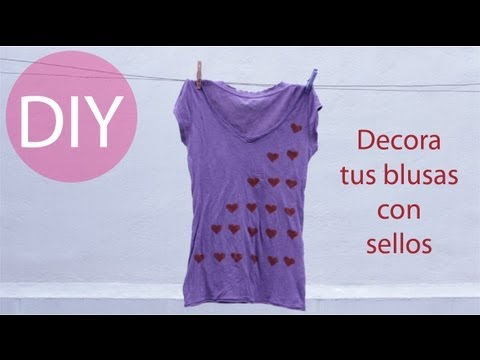 Ideas para decorar blusas y playeras - Hablobajito