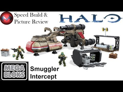Halo - Smuggler Intercept - Mega Blox Speed Build and Picture Review