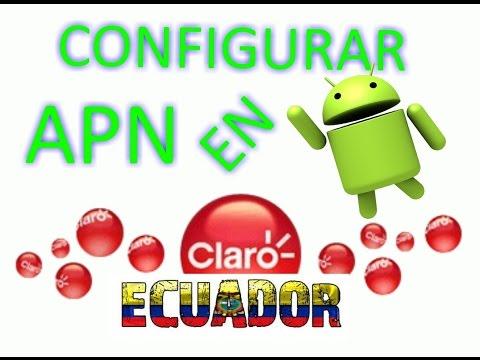 Configurar los datos mobiles 3G/4G en android Internet CLARO ECUADOR