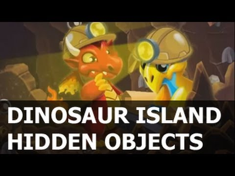 Dragon City DINOSAUR Island HIDDEN OBJECTS Quest - HELP!