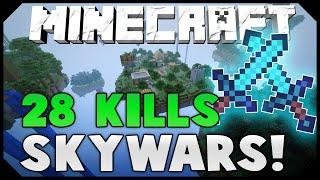 28 SOLO KILLS IN MEGA SKYWARS! ( Hypixel Skywars )