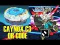 DEEP CAYNOX C3 FREE QR CODES! BEYBLADE BURST EVOLUTION APP!