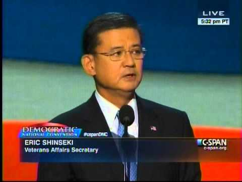 Eric Shinseki Remarks at the 2012 Democratic National Convention