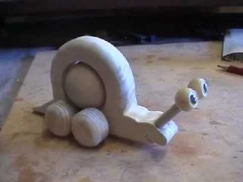 Build a Wooden Toy Snail