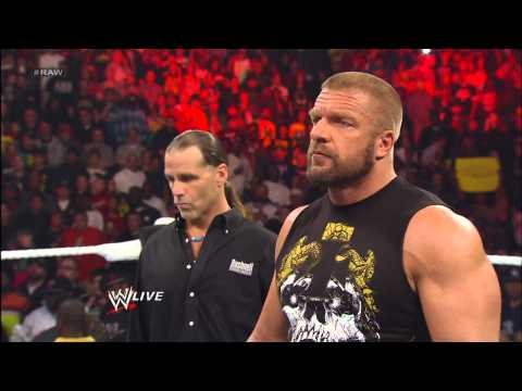 Shawn Michaels predicts Triple H will defeat Brock Lesnar at WrestleMania: Raw. April 1. 2013