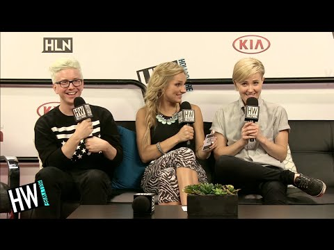 Tyler Oakley & Hannah Hart Talk Obama Meeting & Beyonce Love! (VIDCON 2014)