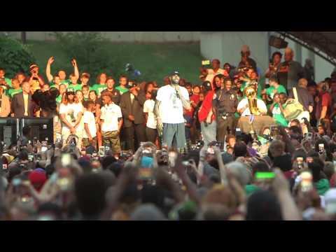 LeBron James speaks at Akron celebration