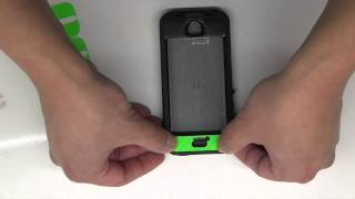 Lifeproof NUUD for 5s Green Carbon Fiber Install by Stickerboy