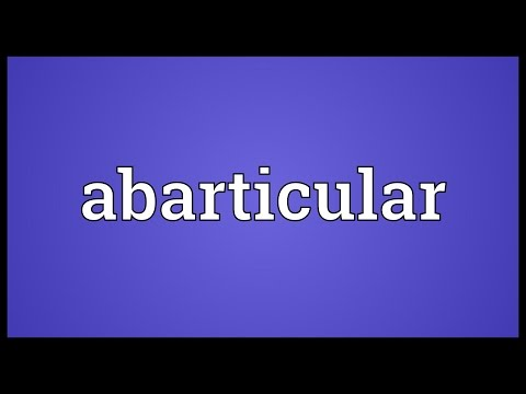 Header of Abarticular