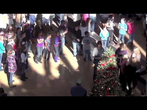 Soldier Surprises wife from Afghanistan - Flash Mob