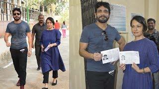 Nagarjuna and Amala Cast their Votes |  Telangana Elections 2018