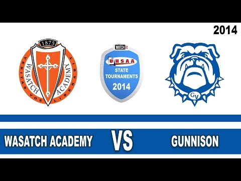 2A Boys Basketball: Wasatch Academy vs Gunnison Utah High School State Tournament 2/27/14 Game 12