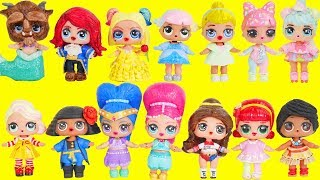 LOL Surprise Dolls Wrong Heads + Dress Up Family with Lils Fuzzy Pets   Toy Egg Videos