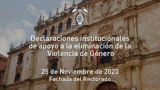 Declaraciones institucionales de apoyo a la eliminación de la Violencia Género · 25/11/2020