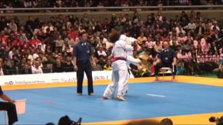 Киокушин. World karate. Kapanadze VS Silva. Киокусинкай. Нокаут со сломанной рукой.