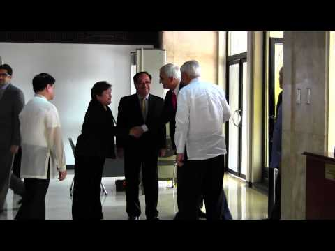 EAM being received by Secretary Albert Del Rosario at Department of Foreign Affairs in Manila