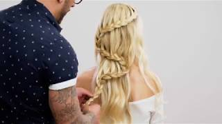 WATERFALL S-BRAID + FLOWER ACCENTS