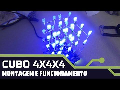 CUBO DE LEDs 4X4X4 - MONTAGEM  E FUNCIONAMENTO - ICSTATION.COM