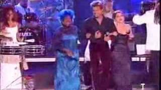 Ricky Martin, Celia Cruz and Gloria Estefan