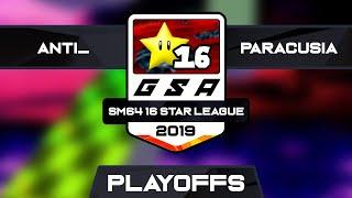 anti_ vs BES Paracusia | Playoffs Match 1 | GSA SM64 16 Star League Season 1