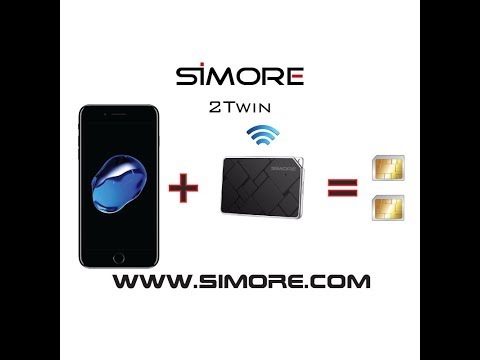 iPhone 7 Dual SIM Bluetooth adapter with 2 numbers active simultaneously - SIMore 2Twin