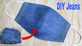 DIY Face Mask Tutorial From Jeans | Reuse Old Clothes | DIY Jeans