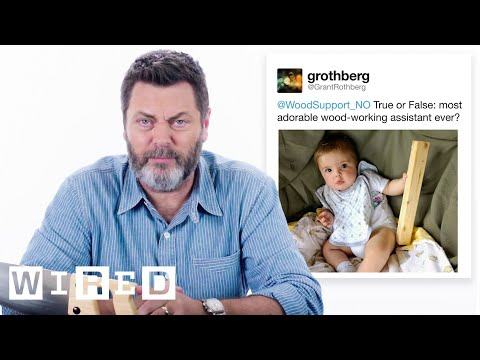 Nick Offerman Answers Woodworking Questions From Twitter | Tech Support | WIRED