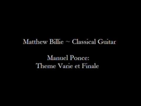 Matthew Billie - Manuel Ponce: Theme Varie et Finale
