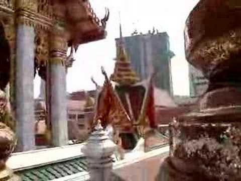 Cute Boy Dancing In Bangkok's Temple