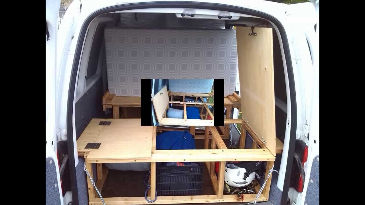 vw caddy mini camper 1 youtube. Black Bedroom Furniture Sets. Home Design Ideas