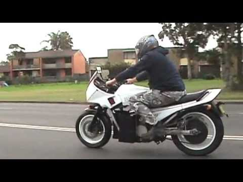 Electric Motorcycle Honda VF750 Burnout