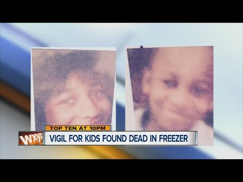 Vigil for kids found dead in freezer