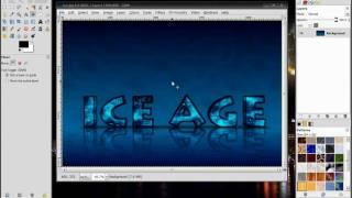 Gimp Tutorial: 3D Ice Text