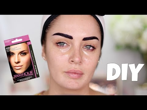 TINTING MY OWN LASHES & BROWS  - DIY Eyelash & Eyebrow Dye Review