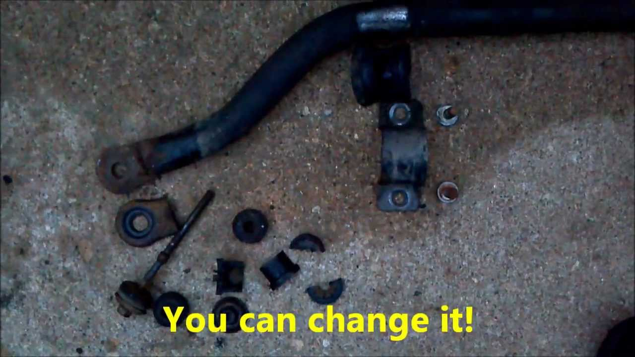 replacing front sway bar in a gm vehicle 2001 oldsmobile