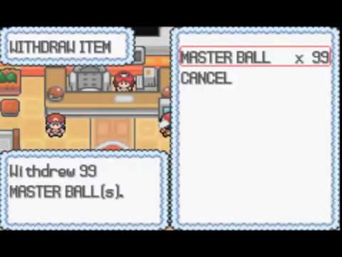 Pokemon Light Platinum : Infinite Master Ball Cheat Code
