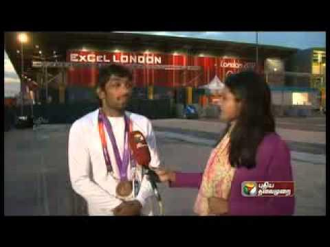 Olympics 2012 - Sharanya Sundaraj - News Reporter and News Correspondent for Puthiya Thalaimurai