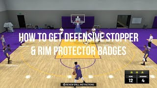 NBA 2K19 HOW TO GET DEFENSIVE STOPPER & RIM PROTECTOR QUICKLY!