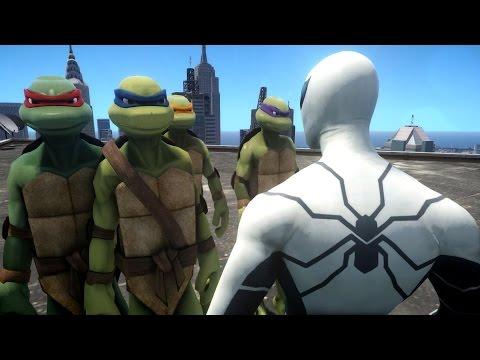 Spiderman Vs Teenage Mutant Ninja Turtles - Future Foundation Spider-man video