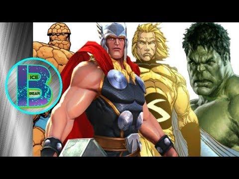 TOP 10 Strongest Superheroes Of Marvel Comics | Explained In Hindi | BlueIceBear
